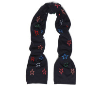 Printed Wool And Cashmere-blend Scarf Midnight Blue Size --