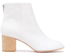 Leather Ankle Boots White