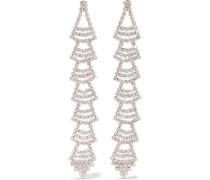 Gold-tone Crystal Earrings Gold Size --