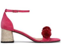 Xuxa pompom-embellished suede sandals