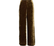 Margaux velvet wide-leg pants