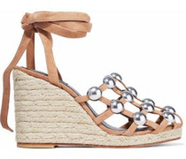 Taylor studded suede espadrille wedge sandals