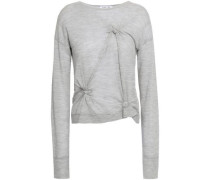 Knotted Cashmere Sweater Light Gray