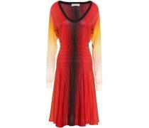 Dégradé Striped Silk Dress Red
