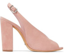 Nubuck slingback sandals
