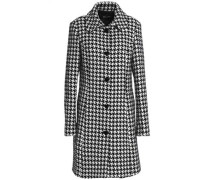 Houndstooth tweed coat