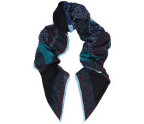 Printed wool-twill scarf