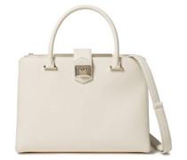 Marianne Textured Leather Shoulder Bag Cream Size --