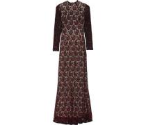 Cori sequin-embellished lace maxi dress