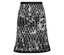 Marielle flared embroidered jacquard skirt