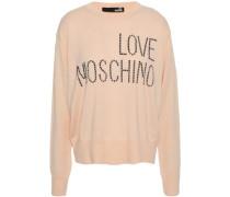Studded Wool-blend Sweater Peach