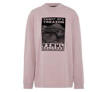 Flocked Cotton-jersey Sweatshirt Lavender