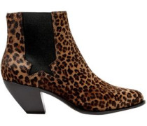 Woman Sunset Leopard-print Calf Hair Ankle Boots Animal Print