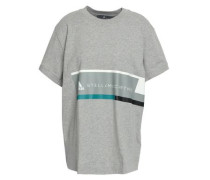 Printed Cotton-jersey T-shirt Light Gray