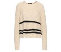 Intarsia Cotton-blend Sweater Beige Size 0