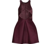 Satin-paneled Cotton And Silk-blend Faille Mini Dress Merlot