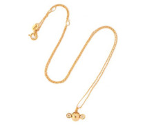 Gold-plated sterling silver crystal necklace