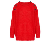 Lamma Button-detailed Knitted Sweater Red