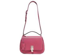 Joylock Textured-leather Shoulder Bag Magenta Size --
