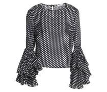 Gabby polka-dot silk crepe de chine blouse