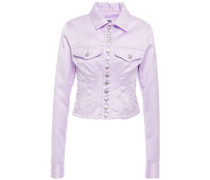Button-detailed Cady Jacket Lilac