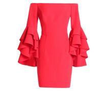 Off-the-shoulder ruffled cady mini dress