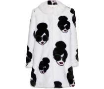 Kinsley printed faux fur coat