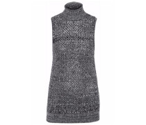 Marled wool and cashmere-blend turtleneck sweater