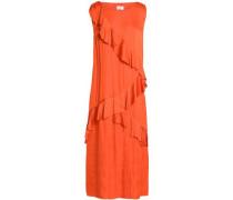 Ruffled shell midi dress