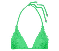 Ruched triangle bikini top