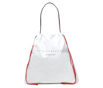 Woman Dover St Printed Leather Shoulder Bag White