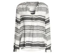 Striped silk top