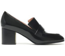 Woman Glossed-leather Loafers Black