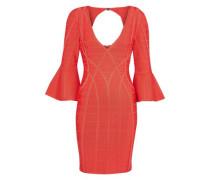 Cutout Bandage Mini Dress Coral