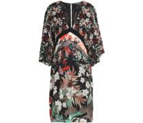 Floral-print silk-chiffon mini dress