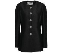 Linen-blend Tweed Jacket Black