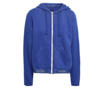 Modern Cotton-blend Jersey Hooded Top Royal Blue
