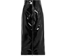 Vinyl Midi Skirt Black Size 0