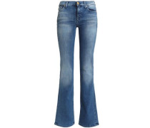 Faded mid-rise bootcut jeans