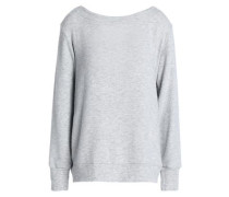 Open-back lace-up Tencel-blend sweater