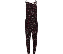 Printed Ponte Jumpsuit Black