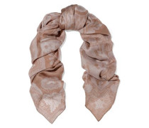 Printed Silk Scarf Antique Rose Size --