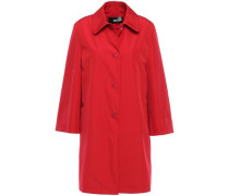 Button-embellished Shell Coat Red