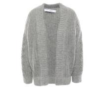 Beatnik Mélange Knitted Cardigan Light Gray