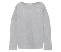 Gabriela The Baseball French Cotton-terry Pajama Top Light Gray