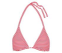 Striped triangle bikini top