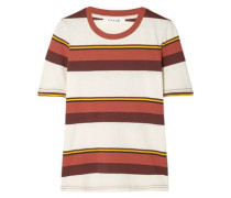 True Crew Striped Cotton-jersey T-shirt Ivory