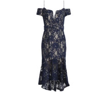 Corded Lace Midi Dress Navy