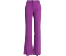 Satin-crepe flared pants