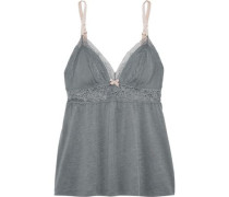 Michaela lace-trimmed jersey camisole